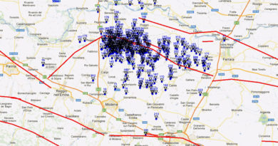 La mappa sismica dell'ultima settimana