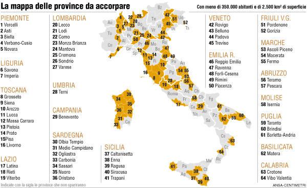Cartina Italia Provincie.La Nuova Mappa Delle Province Italiane Salva Modena Da